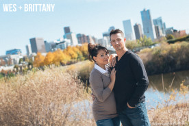 Fall Downtown Denver Engagement Photography
