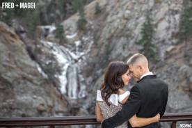 Seven Falls Colorado Winter Wedding Photography