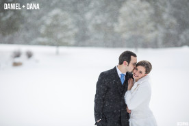 Winter Wedding Photography Monument Colorado