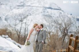 Golden Colorado Winter Wedding Photography