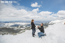 Pikes Peak Surprise Proposal Photography