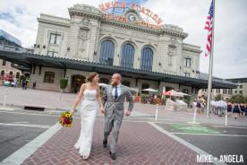 Downtown Denver Colorado Fall Wedding Photographer