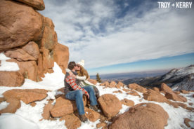 Pikes Peak Highway Engagement Photography Colorado