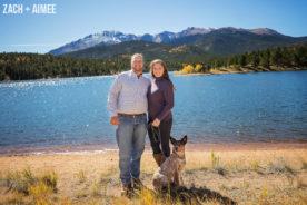 Pikes Peak Fall Engagement Photographer